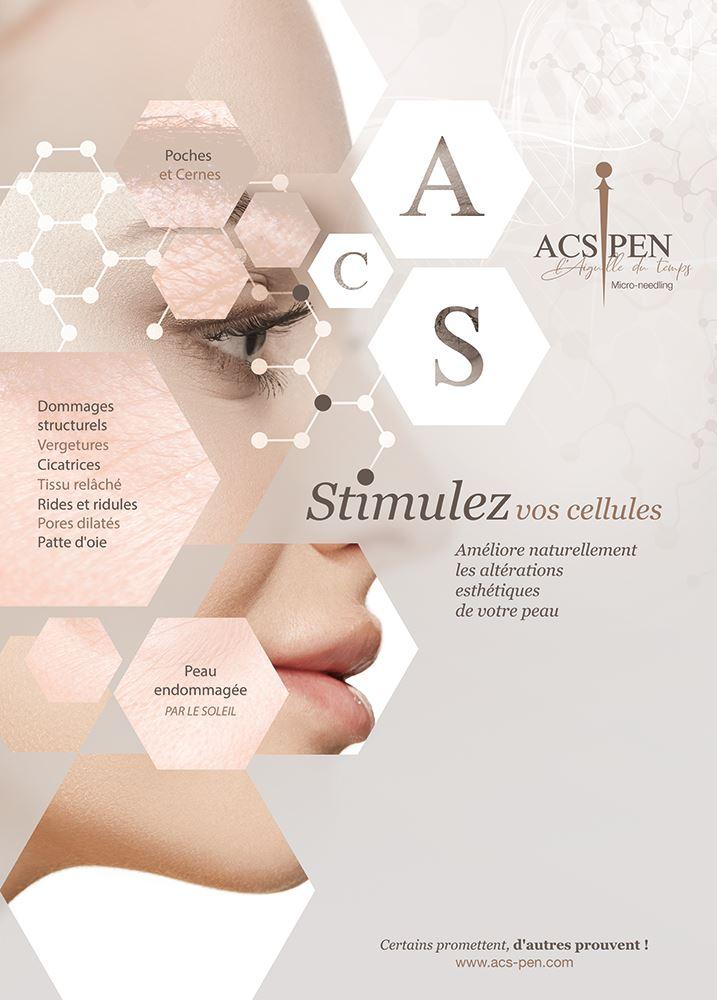ACS Pen MICRONEEDLINGEsthéticienne et maquilleuse professionnelle beauté domicile Stimulation Cellulaire Avancée 44000